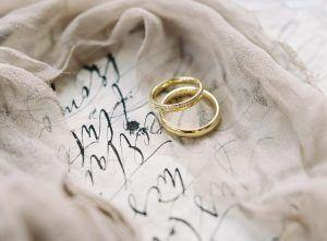 Destination wedding elopement with wedding calligraphy