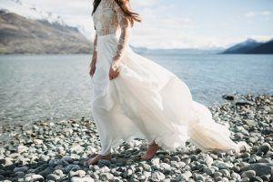 Elopement styled shoot with Queenstown bride in Rue wedding De Seine dress